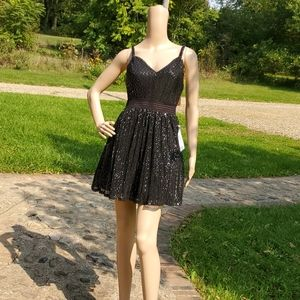 SIZE 3 ADORABLE GLITTER DRESS ALL BLACK
